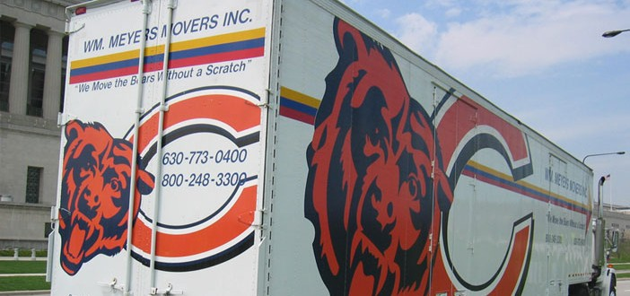 Moving Locally? Use the Proud Moving and Storage provider for the Chicago Bears!